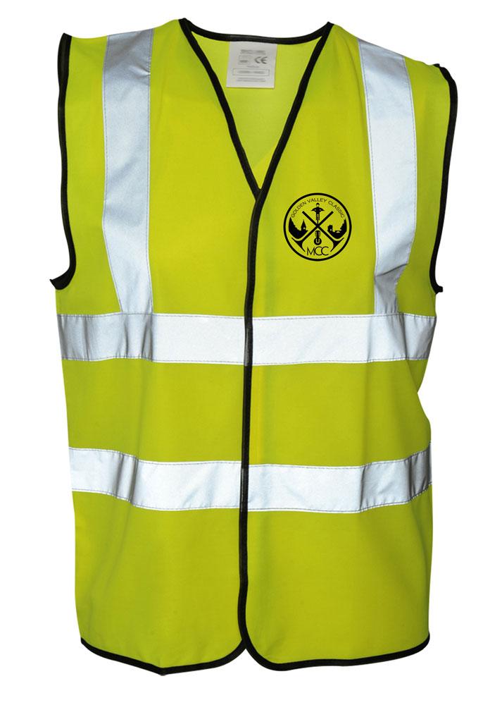 Hi-Vis waistcoat (GVCMC logo) £ 7.99 +£2.50PP